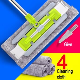 New Aluminium Plate Household Flat Mop Floor Cleaner 360° Spin Headwith Cleaning Pad