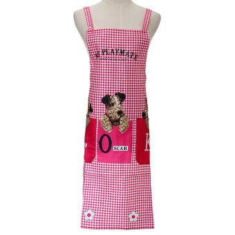New Cute Dog Women Men Kitchen Restaurant Bib Cooking Aprons With Pocket Gift