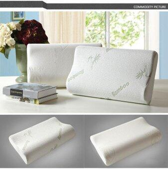New Quality Bamboo Memory Contour Pillow Useful for Neck Problem (Size:60x40cm) - intl