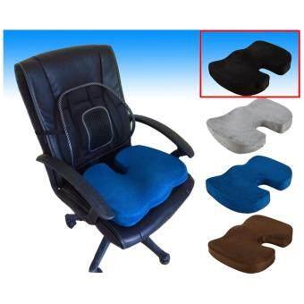 ขายด่วน New ชุด เบาะรองนั่งทำงาน เบาะรองนั่ง เพื่อสุขภาพ ที่รองนั่ง +ที่รองหลังตาข่าย สีดำ seat cushion back mesh black