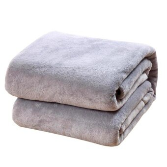 Harga New Super Soft Warm Solid Warm Micro Plush Fleece Blanket Throw RugSofa Bedding - intl