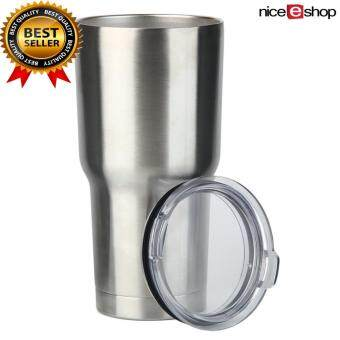 niceEshop KOBWA 30oz Stainless Steel Tumbler With Lid,VacuumInsulated Tumblers Coffee Cup Double Wall Travel Mug - intl
