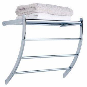 Nifty Well ราวแขวนผ้าเช็ดตัว ที่แขวนผ้า ติดผนังในห้องน้ำ ห้องครัว ชั้นแขวนของ 4 ชั้น MOYA 2396 C1 ( สีเงิน )