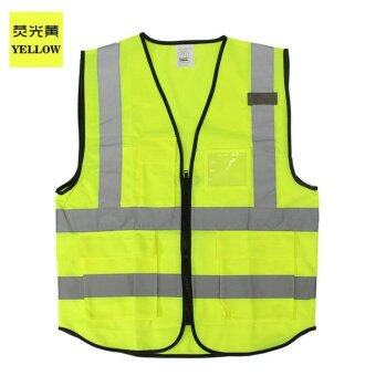 Night Work Security Traffic Cycling Safety Reflective Vest(XLyellow) - intl