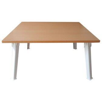 อยากขาย NK Furniline โต๊ะญี่ปุ่น 60x60ซม.(ไม้pbฟอยล์2หน้า) - สีบีซ