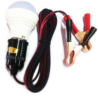 NKE ชุดหลอดไฟ LED 12โวลต์ 5W พร้อมสาย 3 เมตร และปากคีบแบตเตอรี่
