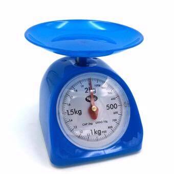Nops เครื่องชั่งน้ำหนักในครัว ตาชั่งเล็กสีฟ้าตราชั่งในครัวขนาด2กิโลกรัม เครื่องชั่งน้ำหนักอาหารเครื่องชั่งเบเกอรี่ BLUE Kitchen Scales 2KG