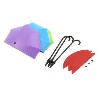 OH 3Pcs Colorful Umbrella Wall Hook Key Hair Pin Holder Organizer Decorative Purple & green & blue