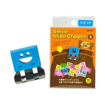 OHTO Pen JAPAN คลิปหนีบกระดาษ Smile Slide Clipper รุ่น SLS-500S-V - โทนสีเข้ม