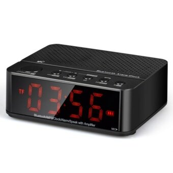 OJ Compact Digital Alarm Clock FM Radio with Dual Alarm Buzzer Snooze Sleep Function Red LED Time Display - intl