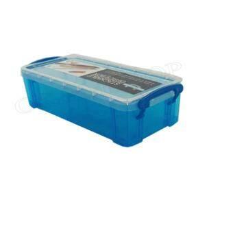 เปรียบเทียบราคา OK&Mshopกล่องพลาสติกเหลี่ยมเอนกประสงค์ (สีน้ำเงิน)
