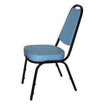รีวิว OK&Mshop เก้าอี้จัดเลี้ยง เก้าอี้สัมนา รุ่น Banquet Chair01โครงขาสีดำ-เบาะฟ้า