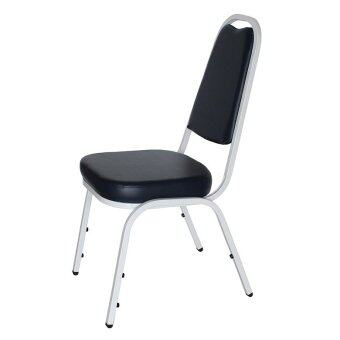 OK&Mshop เก้าอี้จัดเลี้ยง เก้าอี้สัมนา รุ่น Banquet Chair01โครงขาสีขาว-เบาะกรมท่า