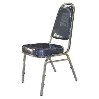 OK&MShop เก้าอี้จัดเลี้ยง เก้าอี้สัมนา รุ่น Banquet Chair01S(A)โครงขาชุบ-เบาะน้ำเงินกรมท่า