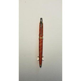 OTOP ปากกาจักสานไม้ไผ่ ลายไทย 3 คลิปทอง