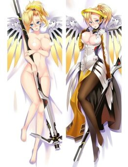 Overwatch Mercy Angela Ziegler Anime Dakimakura Case Cushion Hugging Body Japan Pillow Cover - intl