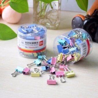Paper clip 19 mm. 40 pieces(คลิปหนีบกระดาษหลากสี 19 มม. / 40 ชิ้น)