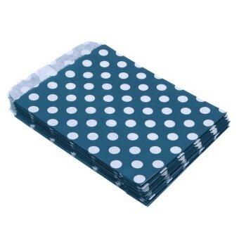 Party Supplies Disposable Food Bag Point Bid Dot Paper Bag Random Color - intl