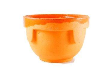 Pasha กระถางเซรามิก รุ่น Flower pot (สีส้ม)