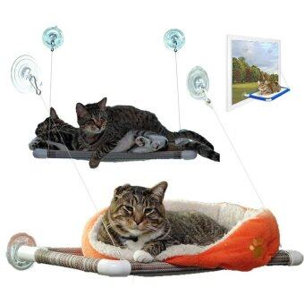 PetInspire เปลแมว หมา สุนัข แสนอบอุ่น ที่นอนสัตว์เลี้ยงยึดติดกับหน้าต่าง สีเบจ Cat's Cradle Bed Cat Window Mounted Pet (Beige/สีเบจ)
