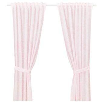 ผ้าม่านคู้/ผ้าม่านปิดประตู/หน้าต่าง พร้อมสายรวบม่าน สีชมพู CK.
