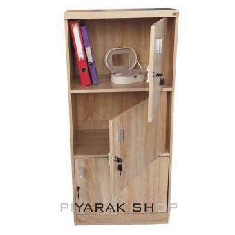 ต้องการขาย Piyalak Shop ตู้ล๊อกเกอร์ ตู้เก็บของ ชั้นไม้อเนกประสงค์ 1 ช่อง 3ชั้นพร้อมบานมีกุญแจปิดเปิด รุ่น Box-03 (สีลายไม้สีโซลิค)