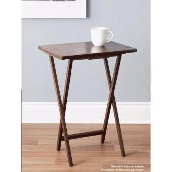 PJ Wood โต๊ะพับไม้ยาง (สีวอลนัท) เซ็ท 6 ตัว