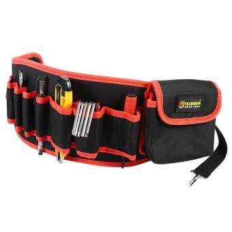 Portable Tool Container Belt Multi-pocket Storage Bag CarpenterWaist Pouch- Red - intl