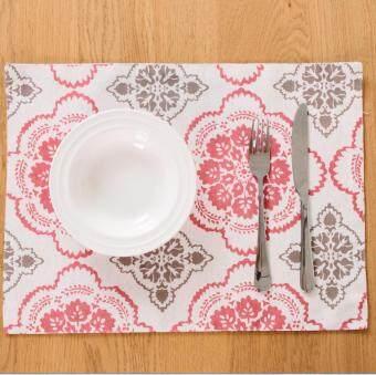 ผ้าฝ้ายบนโต๊ะอาหารการจัดเก็บ potholder placemat
