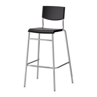 PR furniture เก้าอี้บาร์มีพนัก (สีดำ)