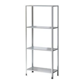 PR Furniture ชั้นวางของเหล็ก 4 ชั้น (Silver)