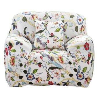 Printed Cloth Art Spandex Stretch Slipcover Sofa Cover - intl