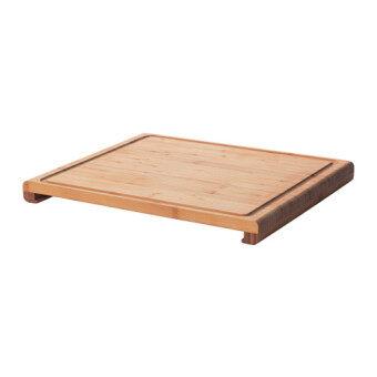 เขียงไม้ไผ่สี่เหลี่ยมใหญ่เป็นเครื่องครัวอุปกรณ์ประกอบอาหารเหมาะกับห้องครัวในบ้านหรือคอนโด