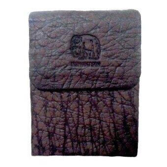 กล่องใส่ซองบุหรี่ลายหนังช้างสีเทา
