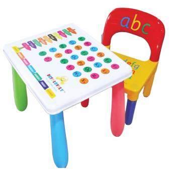 อยากขาย ชุดโต๊ะพร้อมเก้าอี้นักเรียนพลาสติก เทเบิ้ลชีท