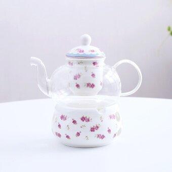 ดอกไม้ถ้วยเซรามิกแก้วผลไม้น้ำชายามบ่ายเทียนดอกไม้กาน้ำชา