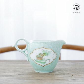 หยวนควบคุมศิลาดลเซรามิกชาพิธีชงชาจุด