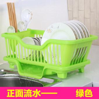 พลาสติกชั้นวางจานผู้ถือตะเกียบหยดท่อระบายน้ำจานจัดเก็บชั้นวาง