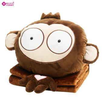 ใบหน้าน่ารักลิงอุ่นมือหมอนผ้าห่ม