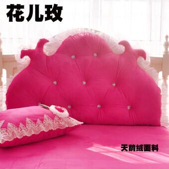 พนักพิงหงส์กำมะหยี่ข้างเตียงพนักพิงขนาดใหญ่