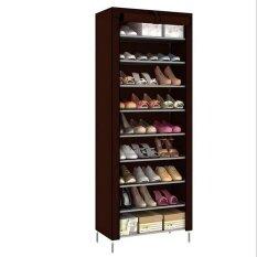 Pudding Korean multi-function storage shoe cabinet Burgundy - intl