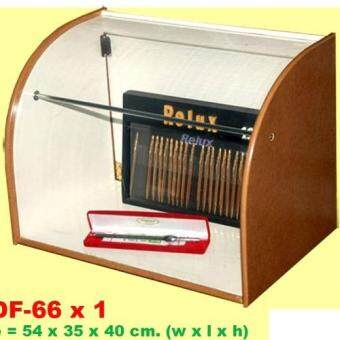 RELUX ตู้โชว์ ตู้เก็บของ ตู้เก็บโมเดลของเล่น ตั้งโต๊ะฝาเปิดอยู่ด้านหลัง ทำจากไม้อย่างดี MDF-66x1