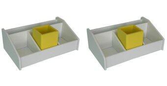 RELUX กล่องใส่ชุดเครื่องเขียน MDF-903 YEW (2 ชิ้น) - สีเหลือง