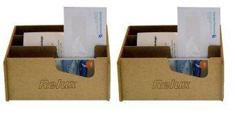 ต้องการขาย Relux กล่องใส่ชุดเครื่องเขียน รุ่น MDF-905 - สีธรรมชาติ 2 ชิ้น