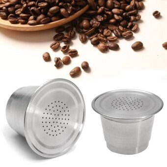 Reusable Stainless Steel Refillable Coffee Capsule Pod For Nespresso Machine New - intl