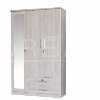 RF Furniture ตู้เสื้อผ้า 3 ประตู รุ่นW1204WM ( สีโซลิค )