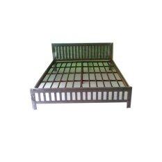RF Furniture เตียงเหล็กกล่องแข็งแรงพิเศษ ขนาด 6 ฟุต รุ่น เรดี้ (สีน้ำตาล)