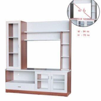 RF Furniture ตู้โชว์TV รุ่น SH1603A ( สีสักคลาสิค/ขาว )