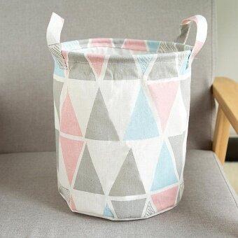 RHS Cotton Linen Washing Laundry Hamper Storage Basket OrganizerSorter Bag(Multicolor)
