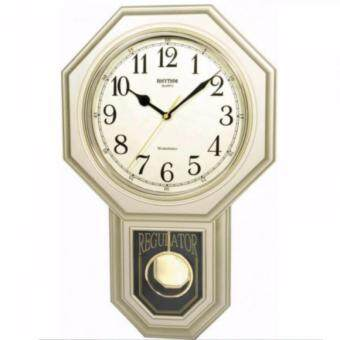 RHYTHM นาฬิกาแขวนพลาสติก รุ่น CMJ443BR18 (Gold)
